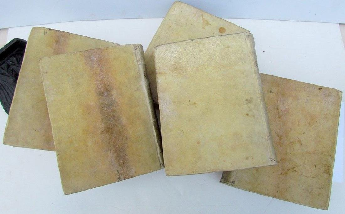 1673 5 Volumes Vellum Bound Antique Historical Essay - 4