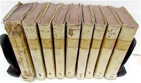 1775 Lot 9 Antique Vellum Bound Books Eloquentia