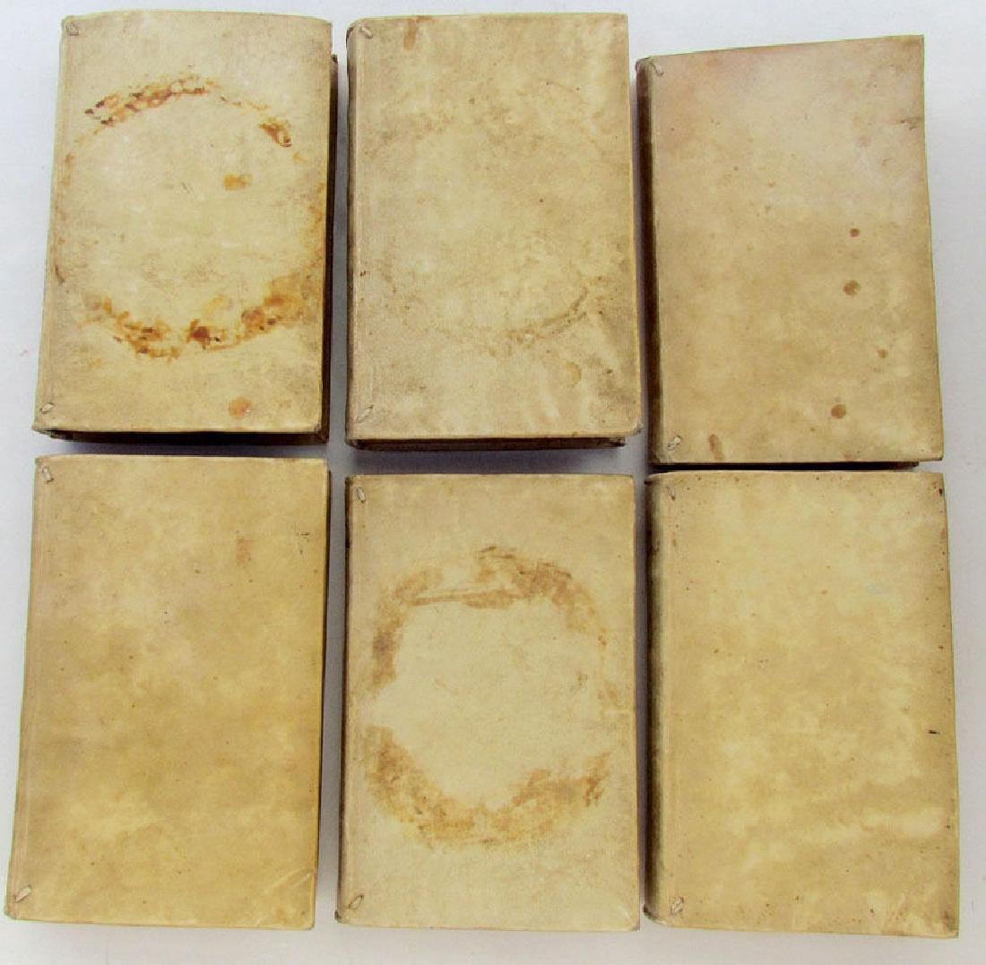 1760 Antique Set of 6 Vellum Bound Books in Italian - 2