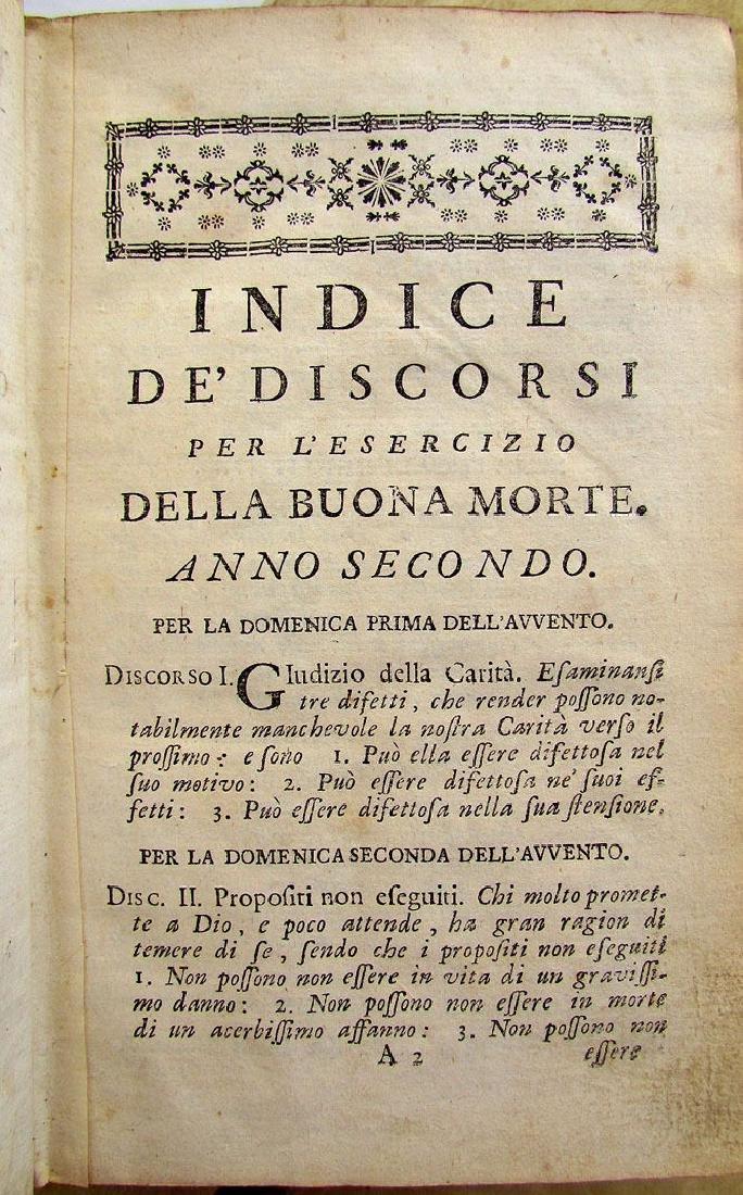 1760 Antique Set of 6 Vellum Bound Books in Italian - 4