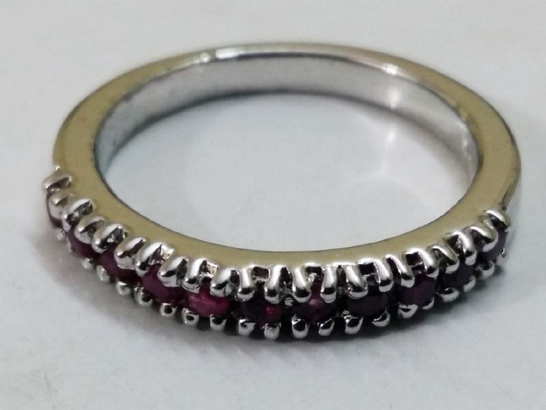 Sterling Silver Ruby Band Ring
