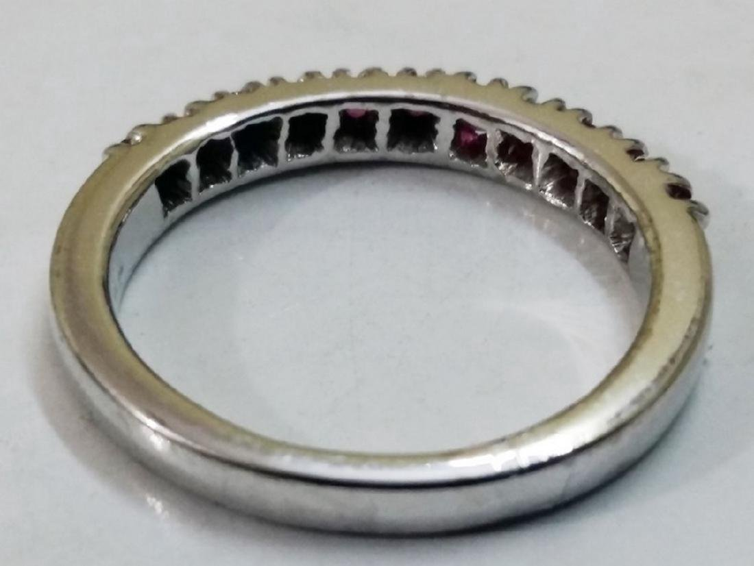 Sterling Silver Ruby Band Ring - 2