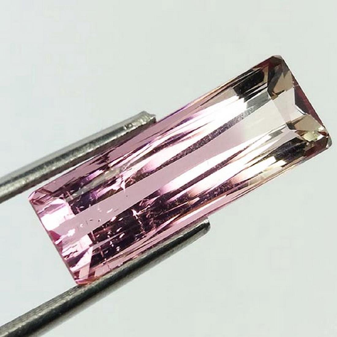 5.21 Carat Loose Natural Bi Color Tourmaline Octagon