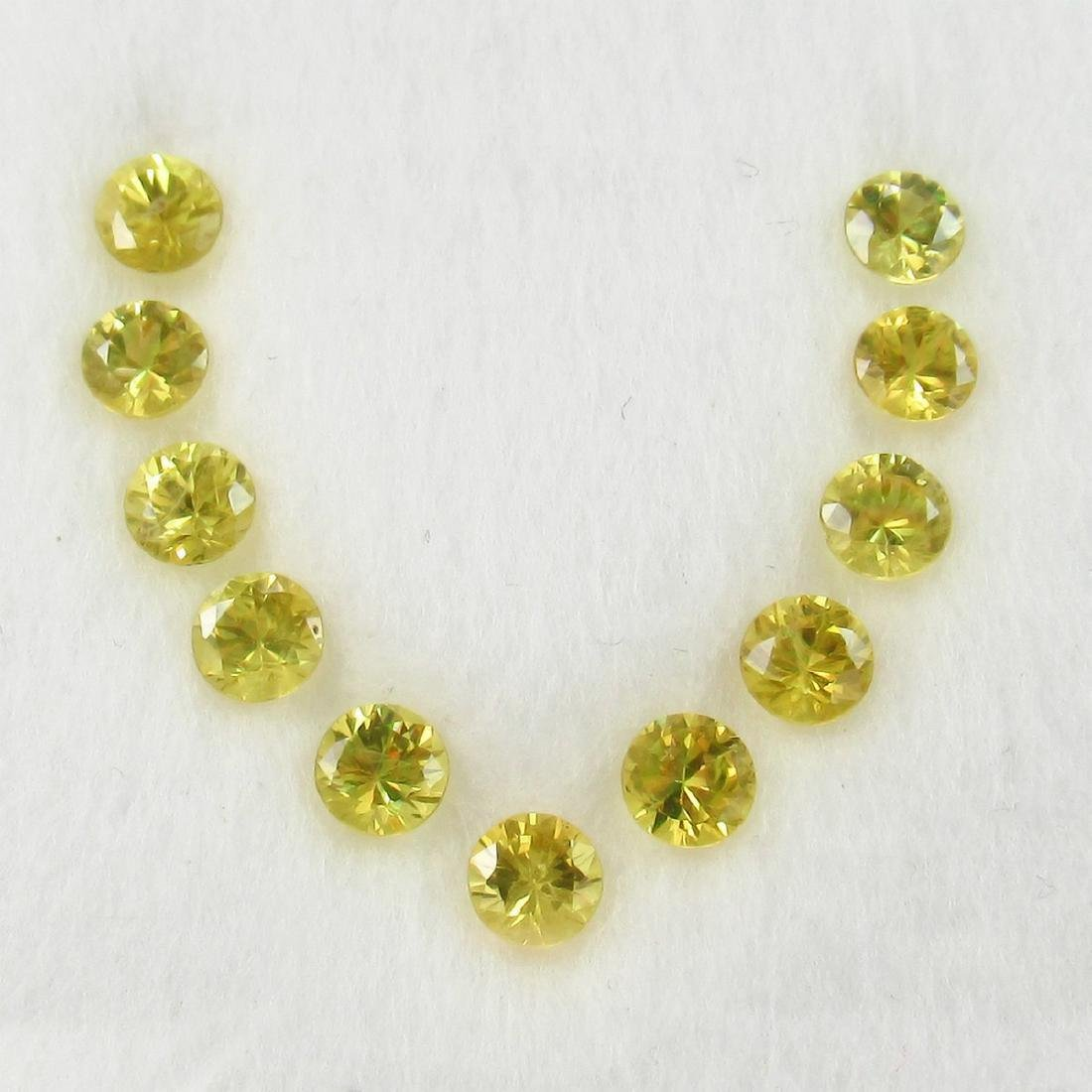2.46 Carat 11 Loose Yellow Sapphires Necklace Set
