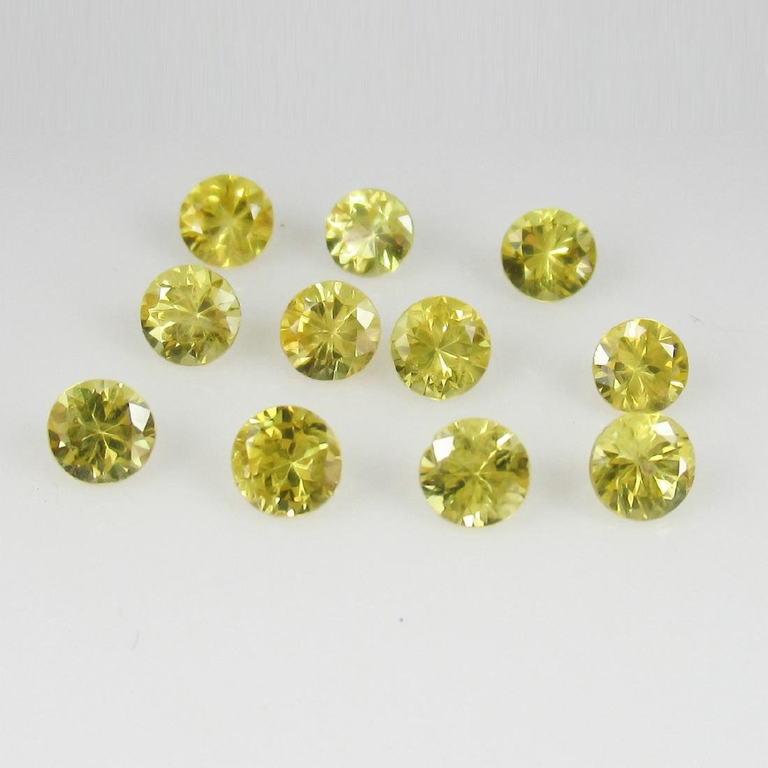 2.46 Carat 11 Loose Yellow Sapphires Necklace Set - 3