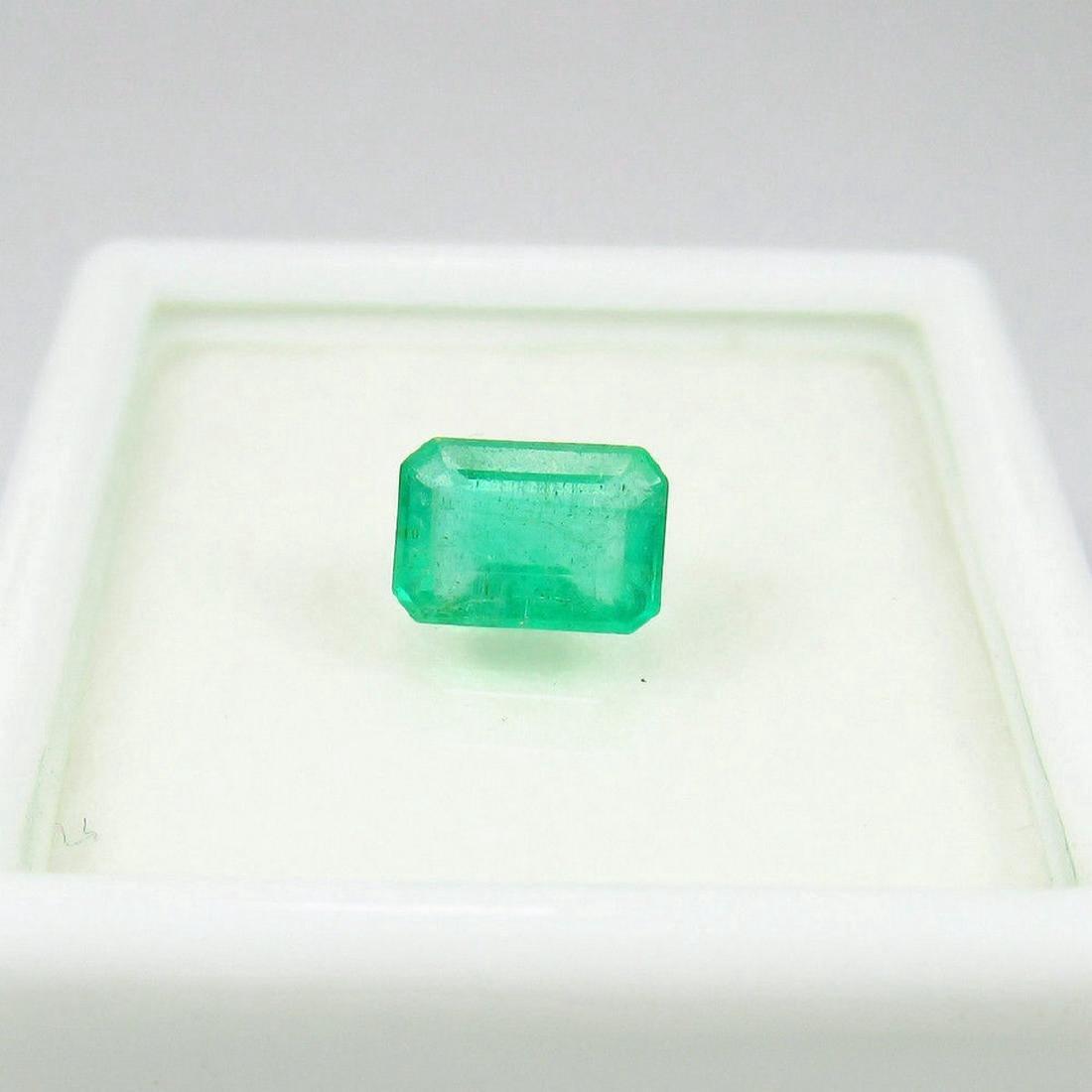 0.88 Carat Loose Zambian Emerald Octagon Stone