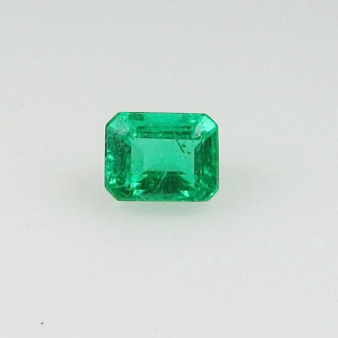 0.39 Carat Natural Zambian Loose Top Green Emerald
