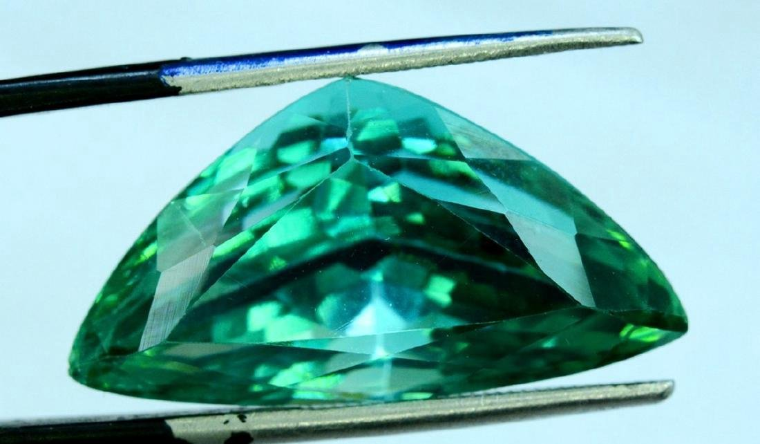 24.55 Carat Loose Flawless Lush Green Kunzite - 4