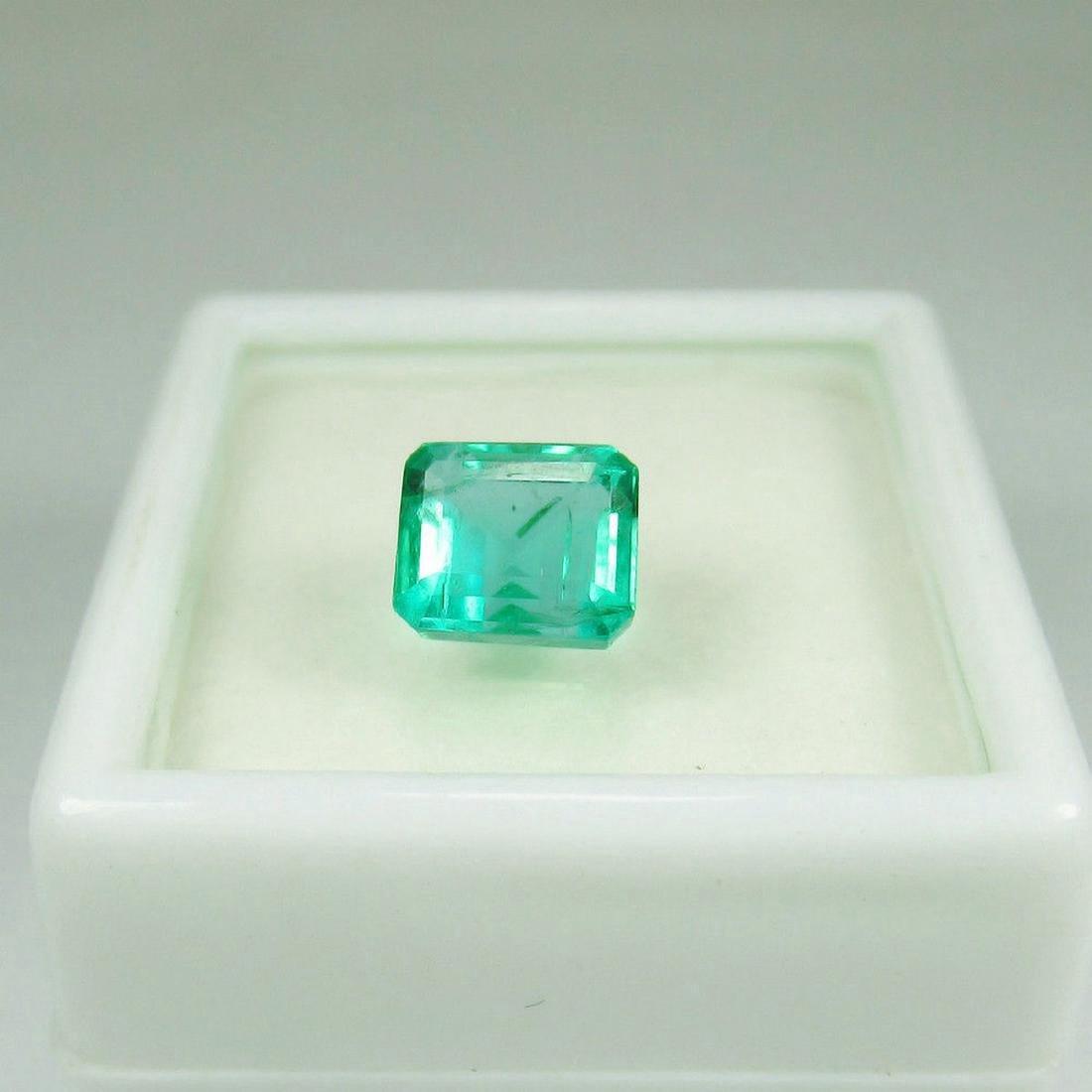 1.77 Carat Loose Zambian Emerald Octagon Stone