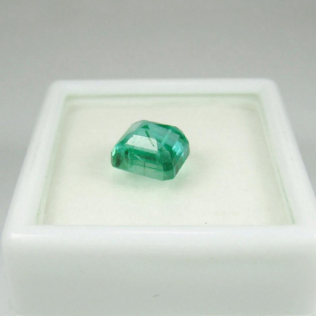 1.77 Carat Loose Zambian Emerald Octagon Stone - 2
