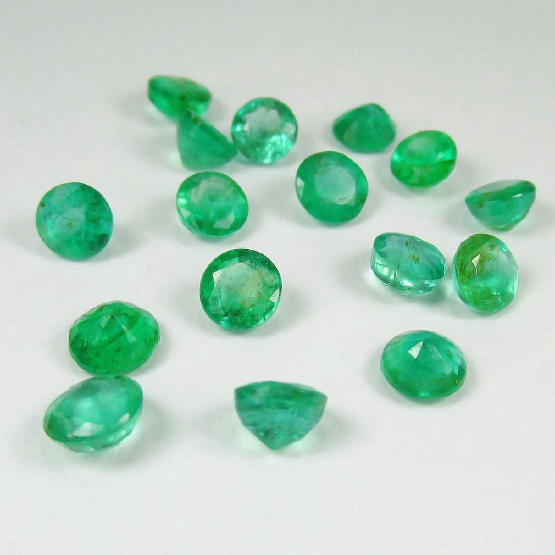 8.91 Carat Natural 16 Loose Emerald Round Lot