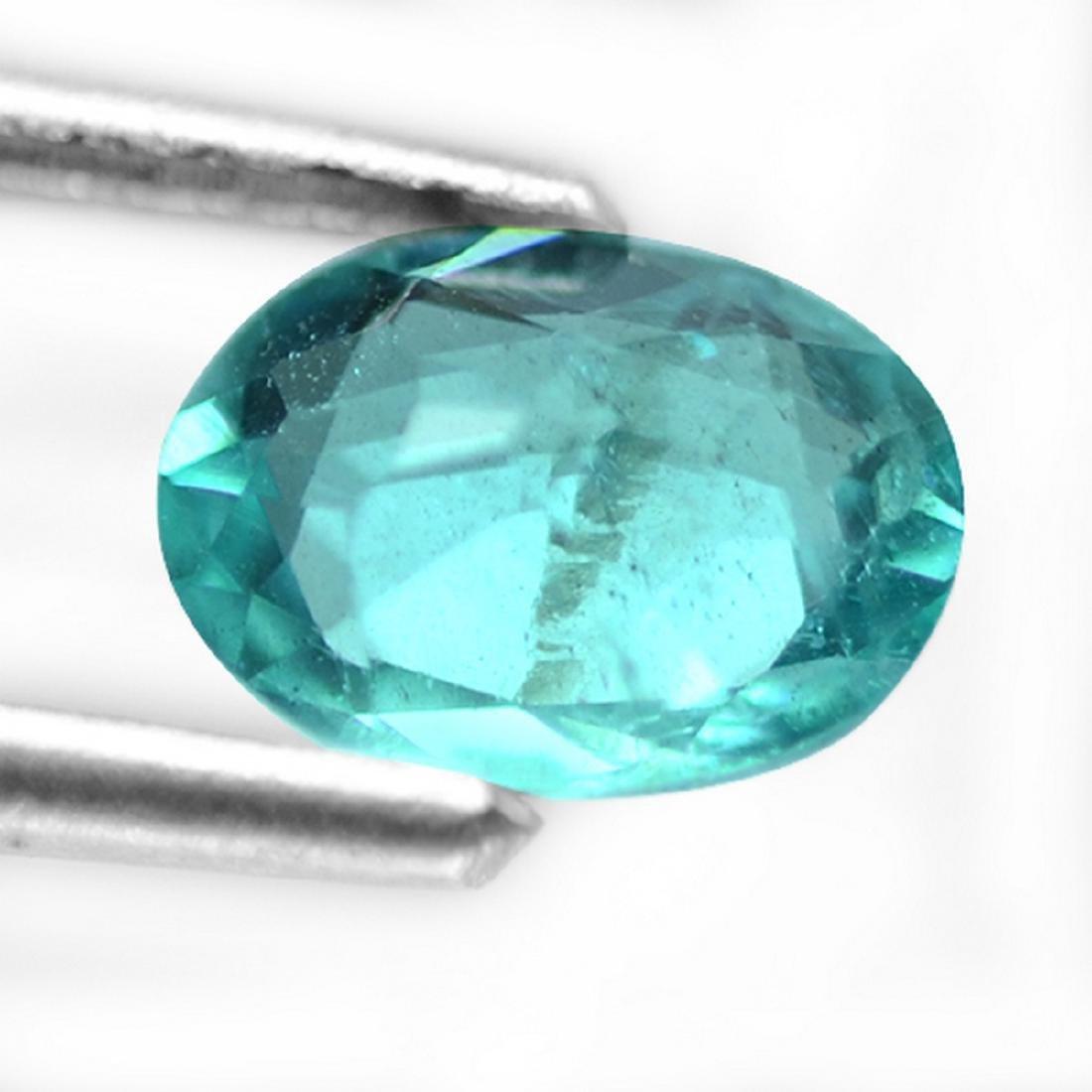 1.02 Carat Loose Natural Paraiba Blue Apatite Oval - 2