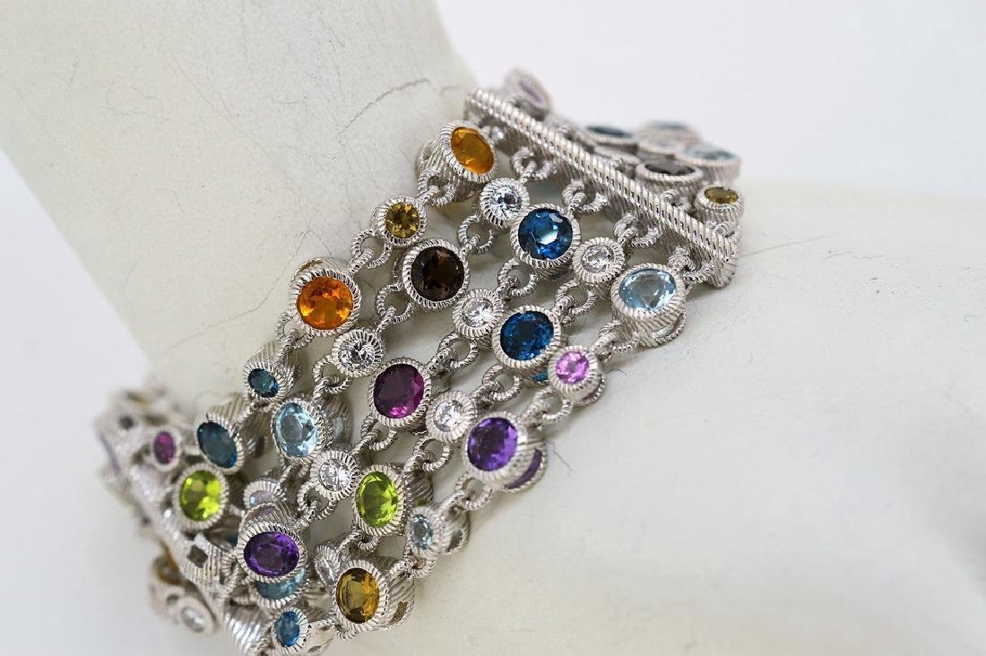 Judith Ripka Sterling Silver Multi-Gemstone Bracelet
