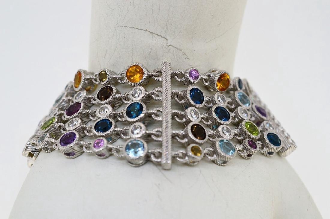Judith Ripka Sterling Silver Multi-Gemstone Bracelet - 2