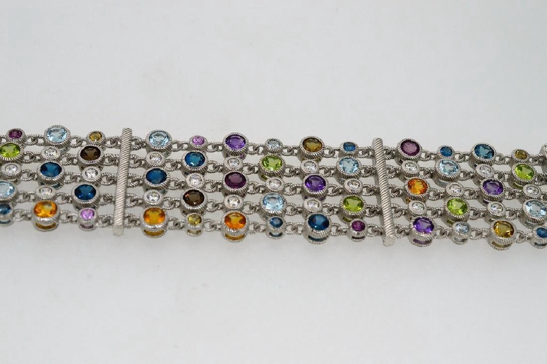 Judith Ripka Sterling Silver Multi-Gemstone Bracelet - 3