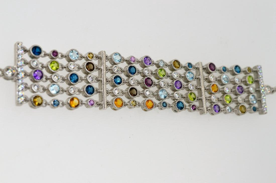 Judith Ripka Sterling Silver Multi-Gemstone Bracelet - 4