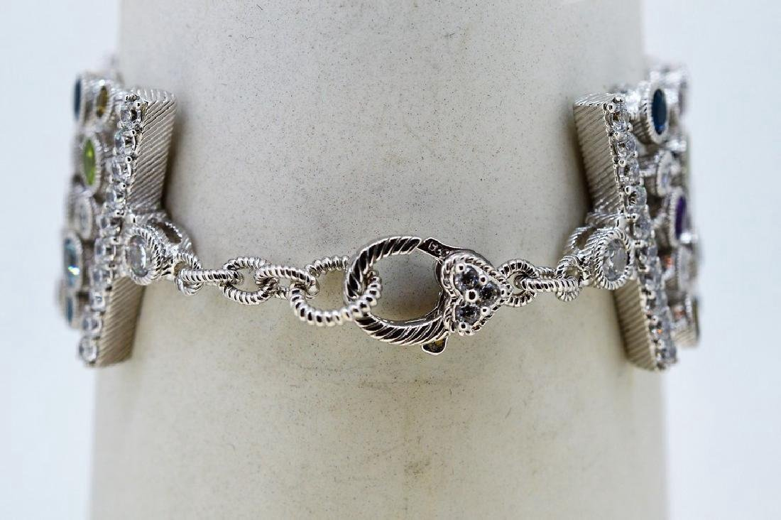 Judith Ripka Sterling Silver Multi-Gemstone Bracelet - 5