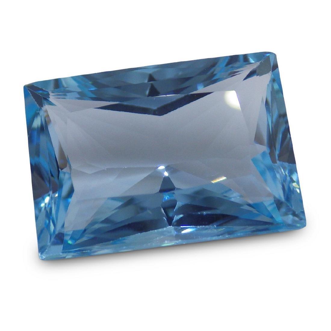 19.61 Carat Loose Emerald Blue Topaz - 3