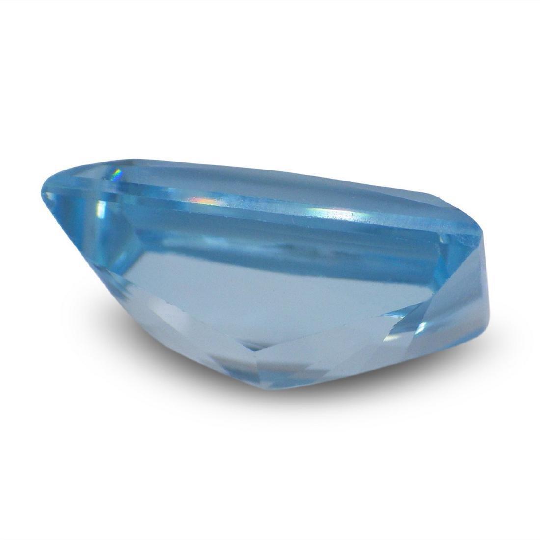 19.61 Carat Loose Emerald Blue Topaz - 4