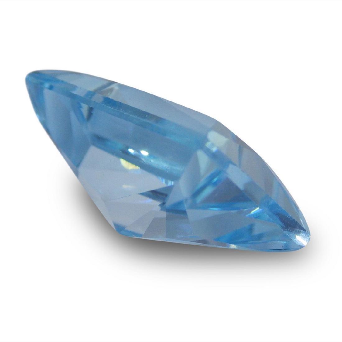19.61 Carat Loose Emerald Blue Topaz - 5