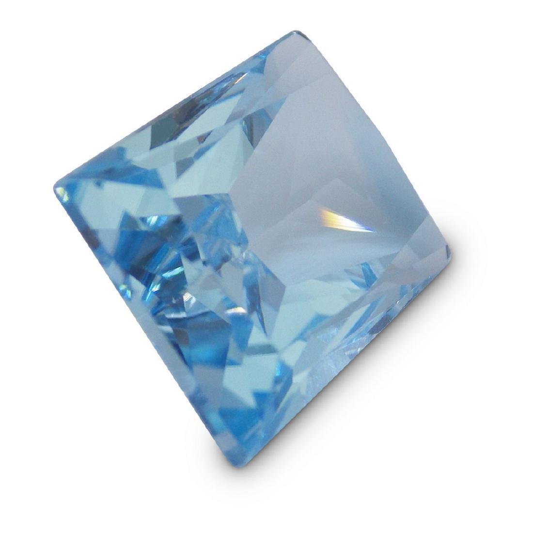 19.61 Carat Loose Emerald Blue Topaz - 6