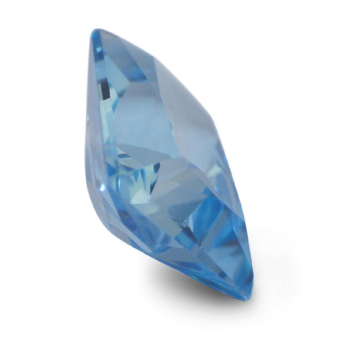 19.47 Carat Loose Emerald Blue Topaz - 3