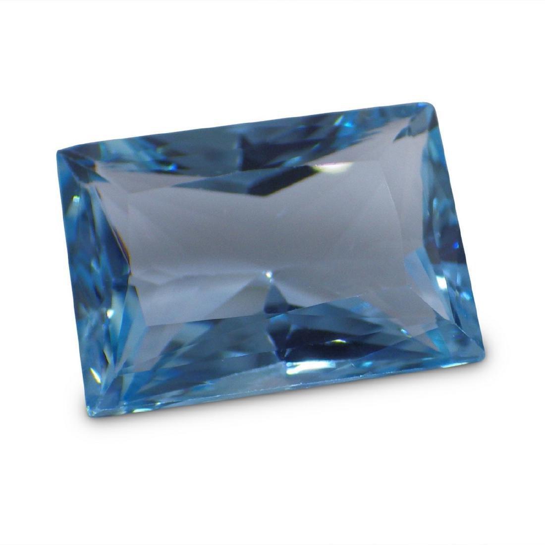 19.47 Carat Loose Emerald Blue Topaz - 5