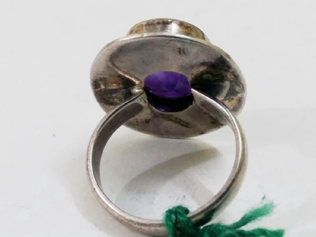 Sterling Silver Amethyst Ring - 3