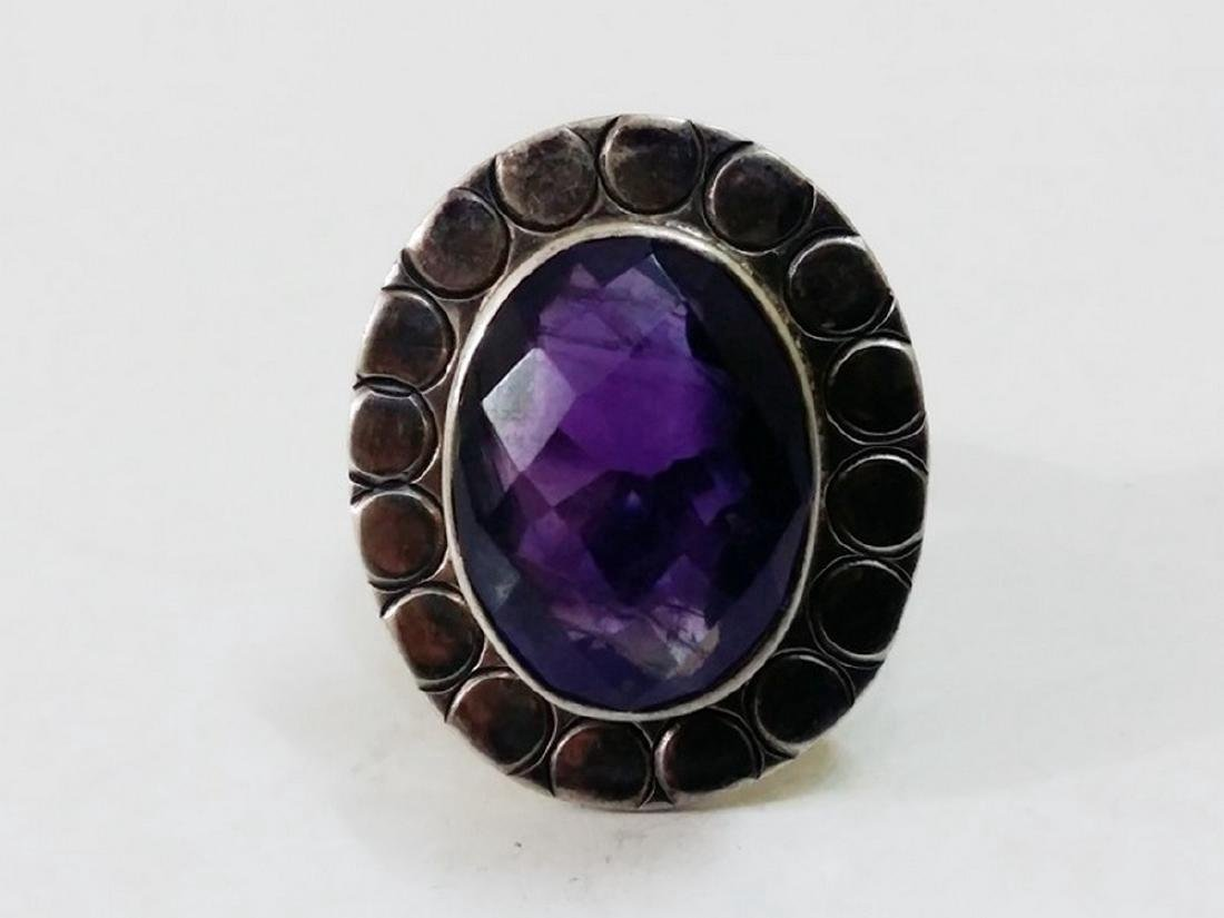 Sterling Silver Amethyst Ring - 4