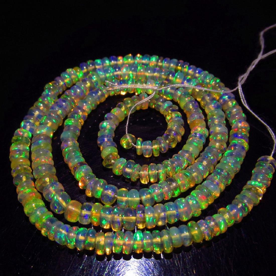 34.27 Carat Natural 238 Loose Honey Opal Beads