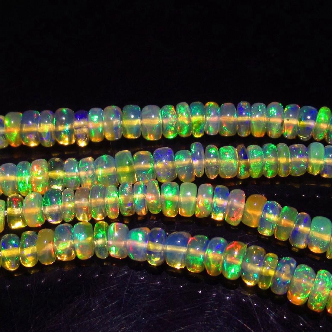 34.27 Carat Natural 238 Loose Honey Opal Beads - 2
