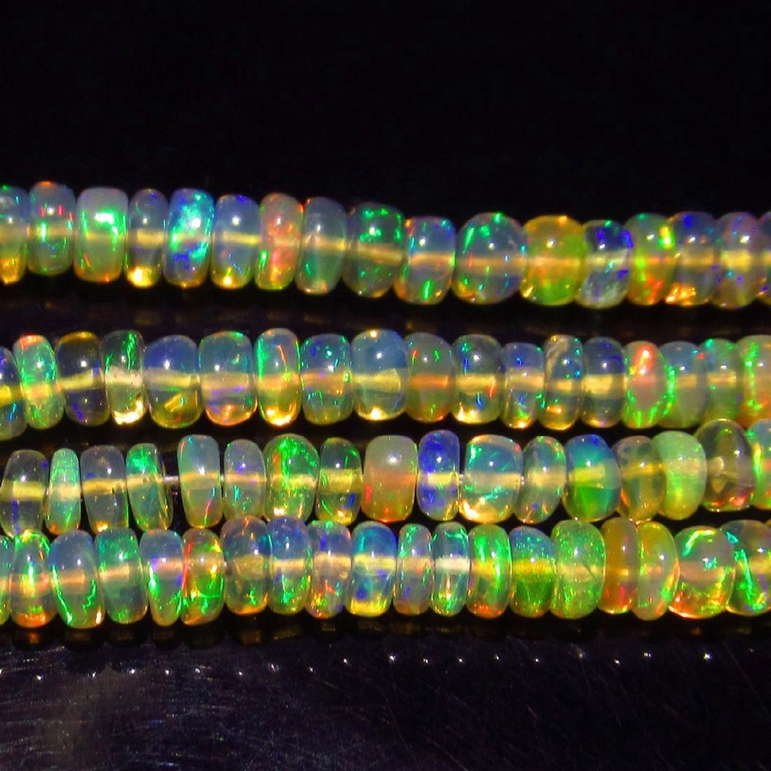 34.27 Carat Natural 238 Loose Honey Opal Beads - 3
