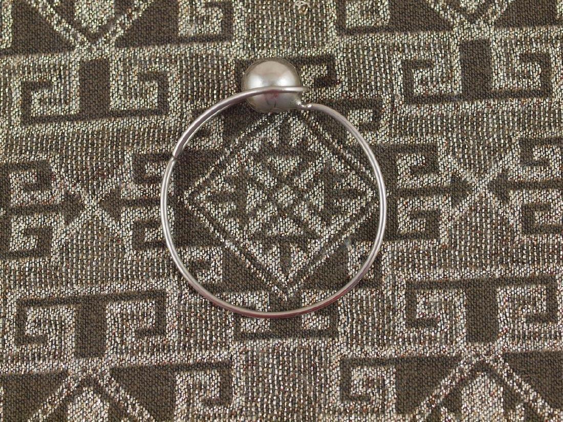 Rigid Vintage Silver Bracelet - 4