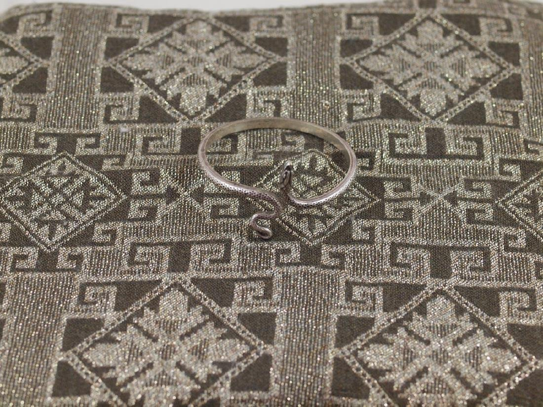 Vintage Art Deco Rigid Silver Figural Snake Bracelet
