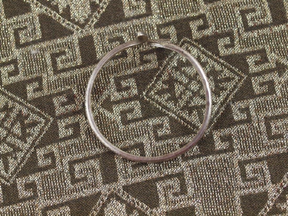 Vintage Art Deco Rigid Silver Figural Snake Bracelet - 4