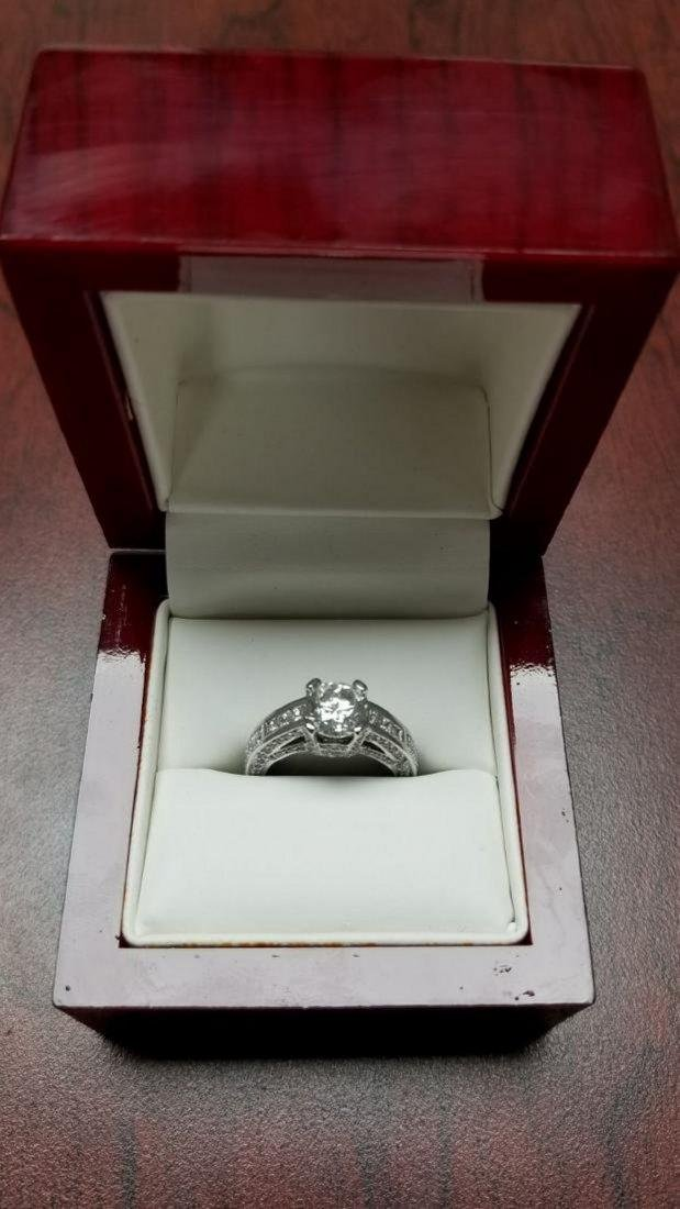 14K White Gold Diamond Engagement Ring, 2.3ctw - 2