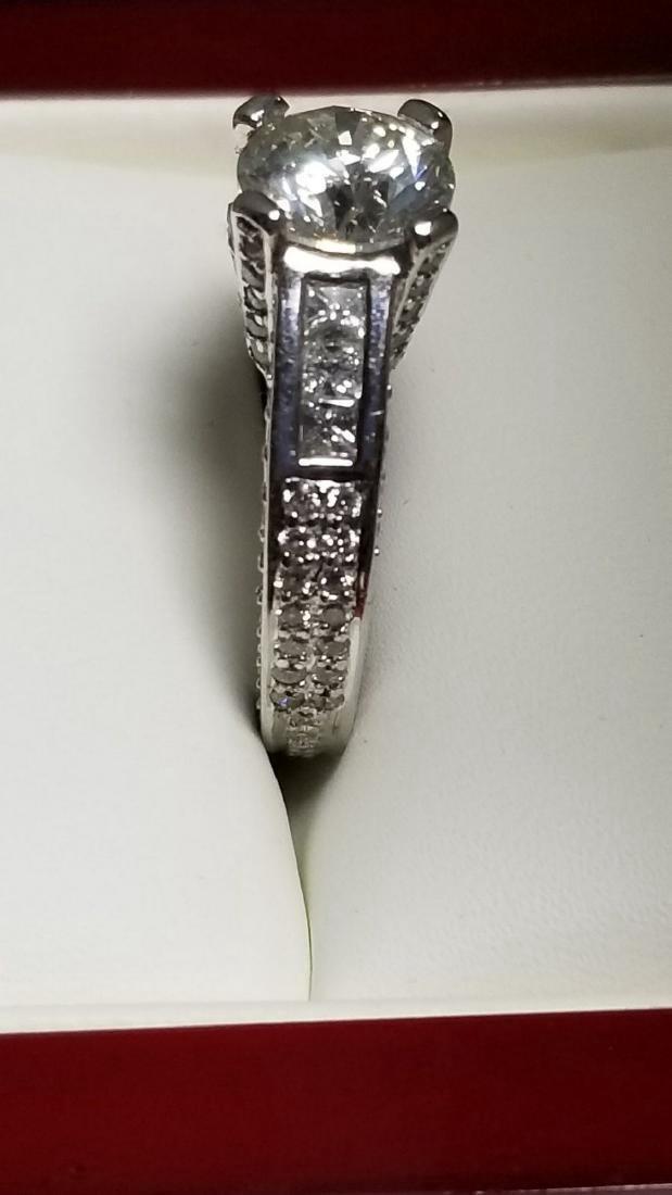 14K White Gold Diamond Engagement Ring, 2.3ctw - 3