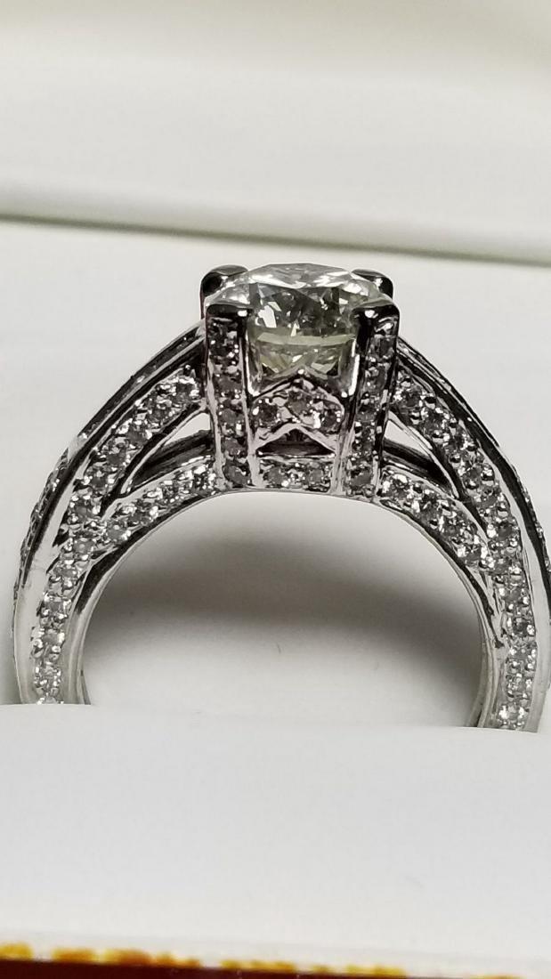 14K White Gold Diamond Engagement Ring, 2.3ctw - 4