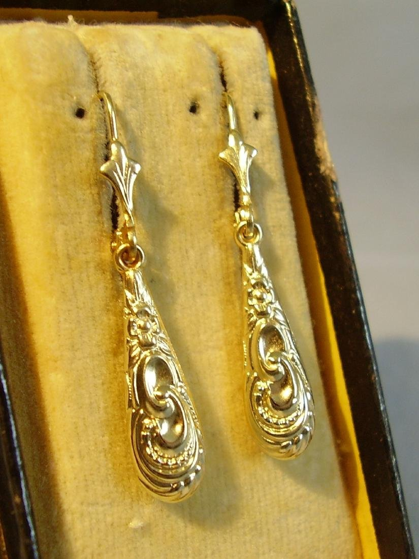 Antique Victorian 835 Silver Earrings