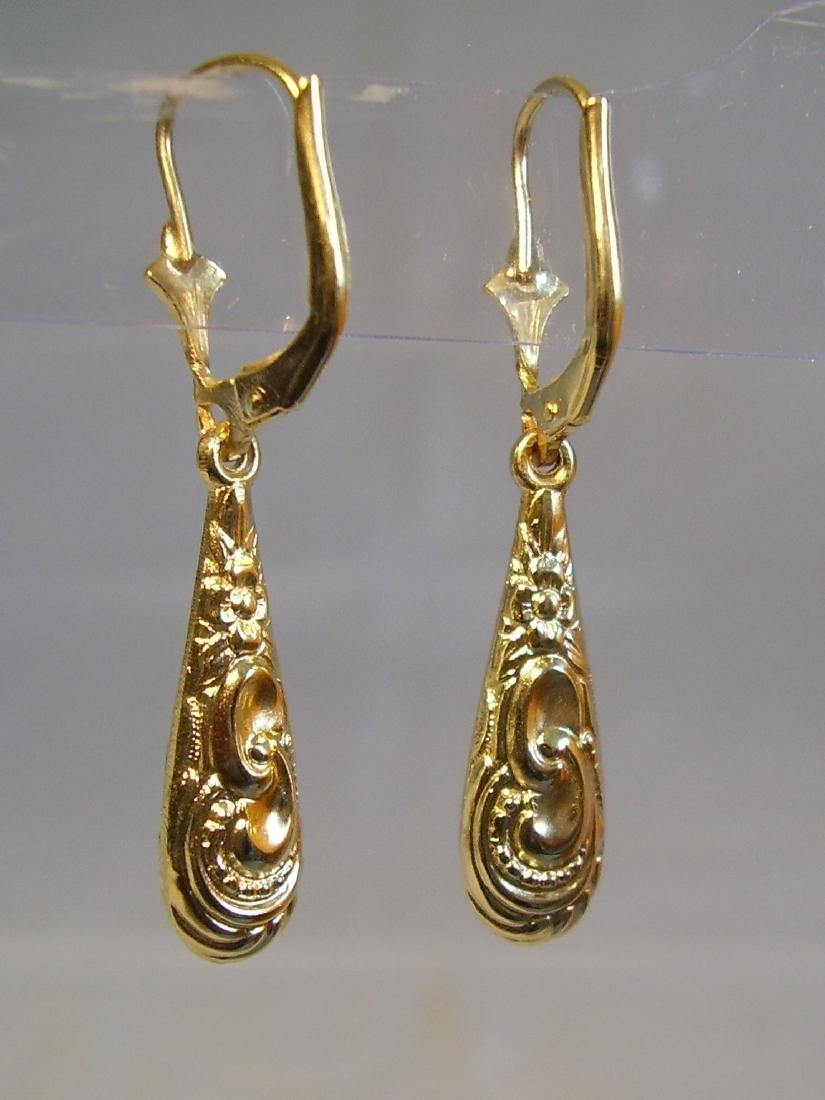 Antique Victorian 835 Silver Earrings - 5