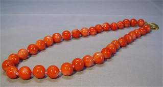 14K Gold Plated Great Pacific Coral Necklace