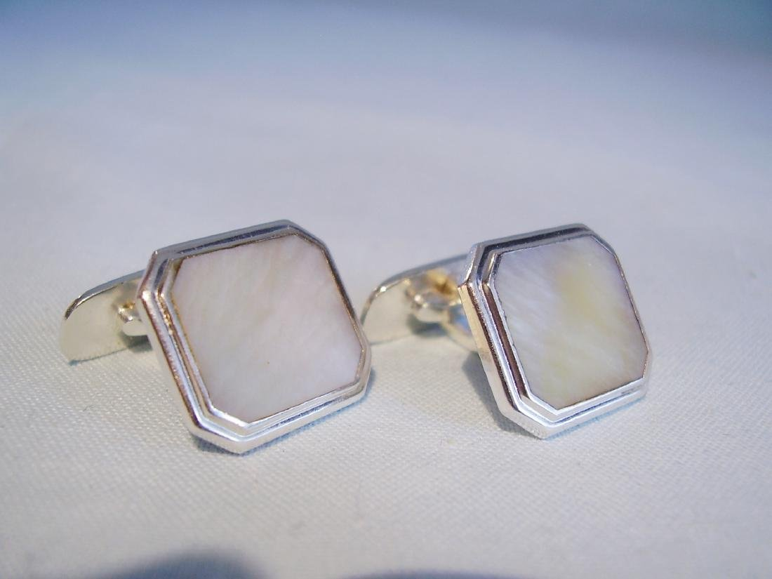 835 Silver Mother of Pearl Cufflinks