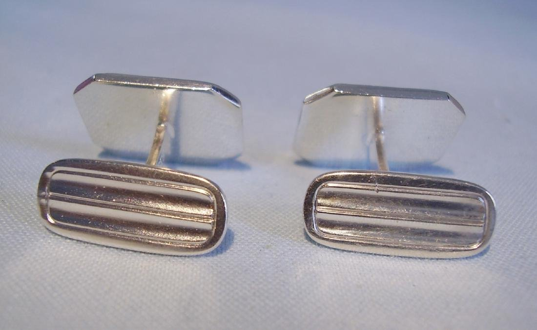 835 Silver Mother of Pearl Cufflinks - 2