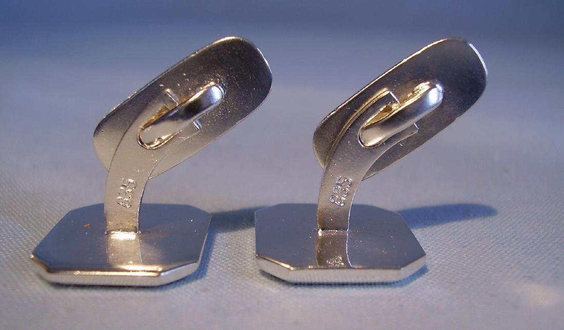 835 Silver Mother of Pearl Cufflinks - 3