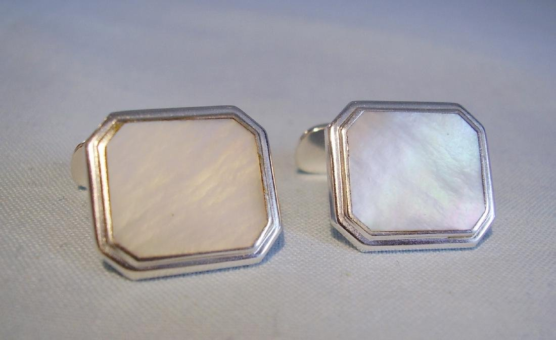 835 Silver Mother of Pearl Cufflinks - 5