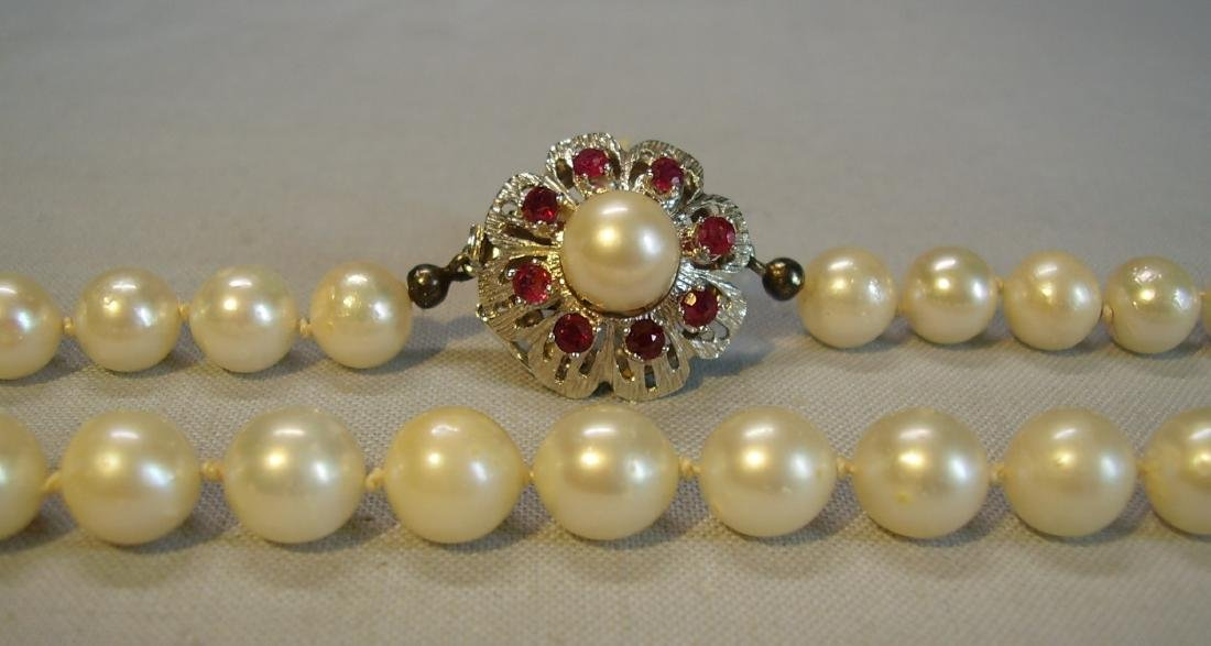 14K Gold Long Saltwater Japanese Akoya-pearls Necklace - 5