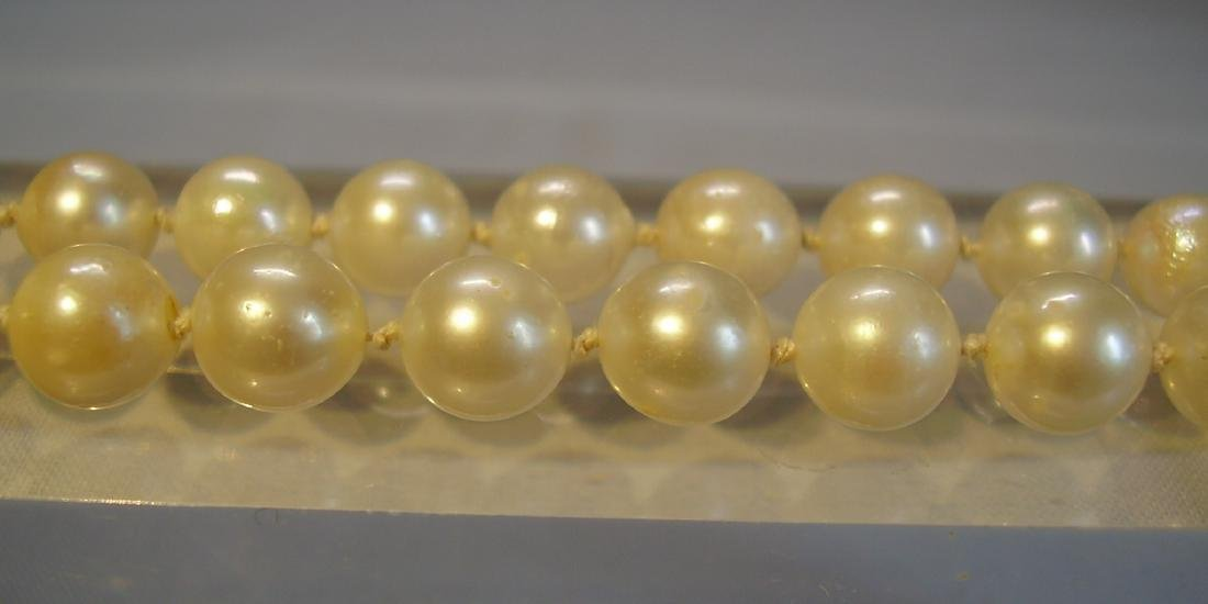14K Gold Long Saltwater Japanese Akoya-pearls Necklace - 6