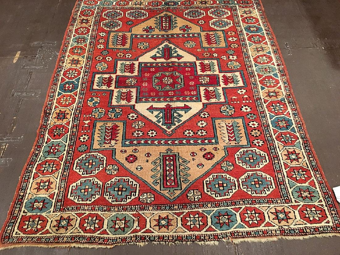 Antique Bergama Rug 6.7x5.3