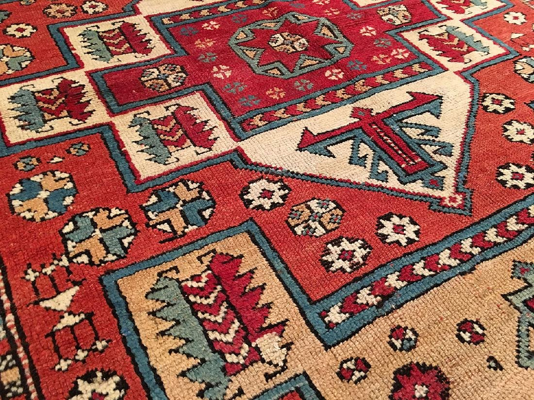 Antique Bergama Rug 6.7x5.3 - 4
