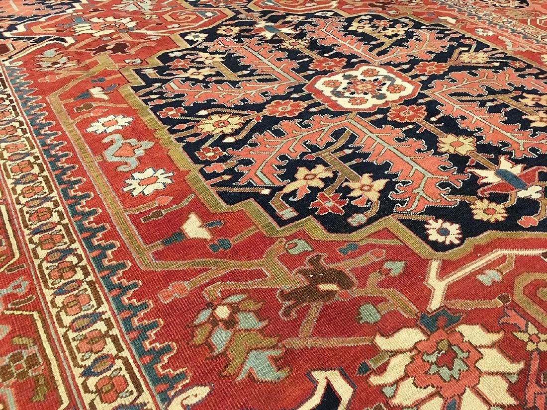 Persian Heriz Carpet 11.6x9.7 - 4